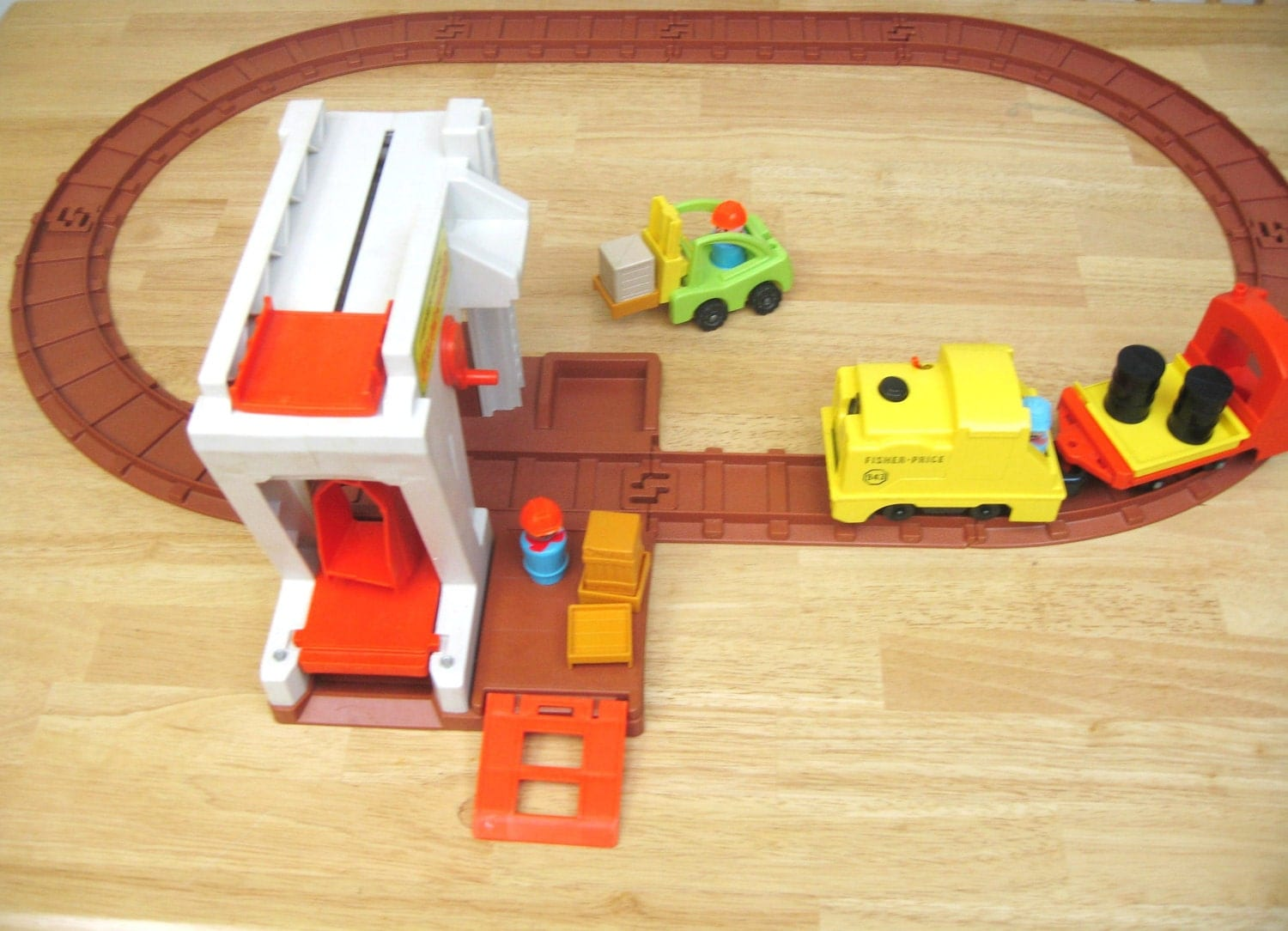Fisher Price Vintage Lift and Load Railroad - toysofthepast