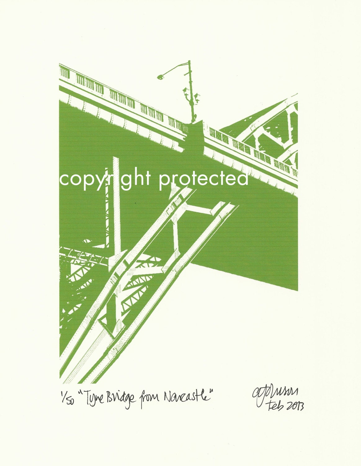 Limited Edition Print: The Tyne Bridge from Newcastle, Newcastle Upon Tyne / Gateshead, England, UK