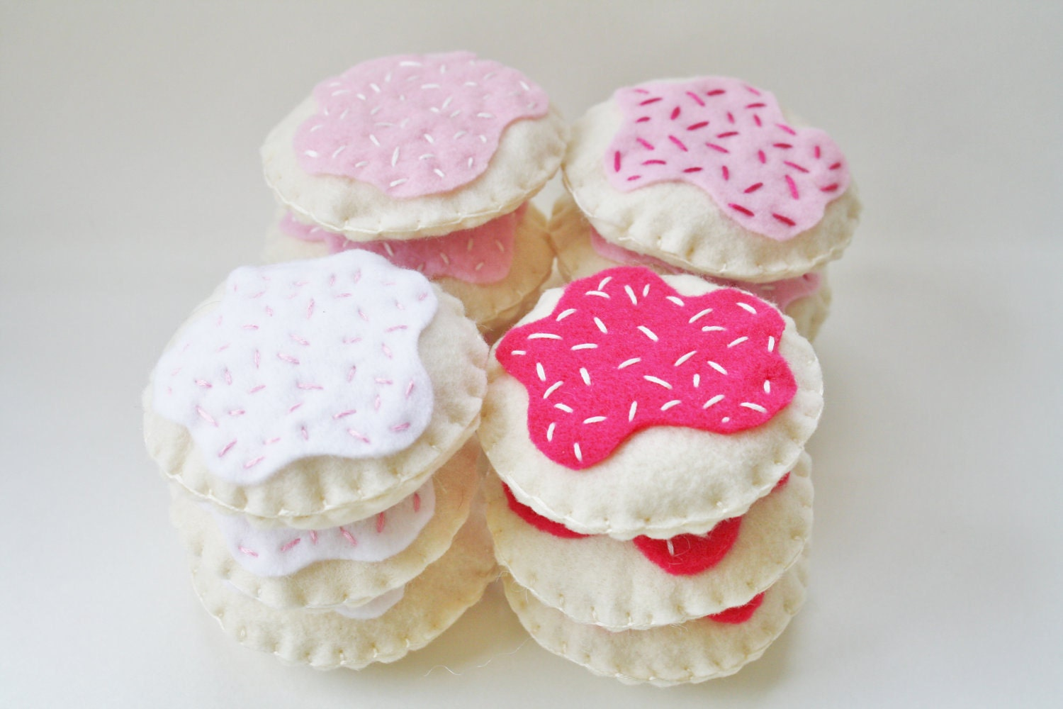 Pink Felt Cookies - KennasFeltForest