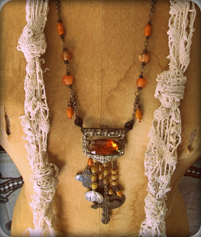 Saints and Relics assemblage necklace