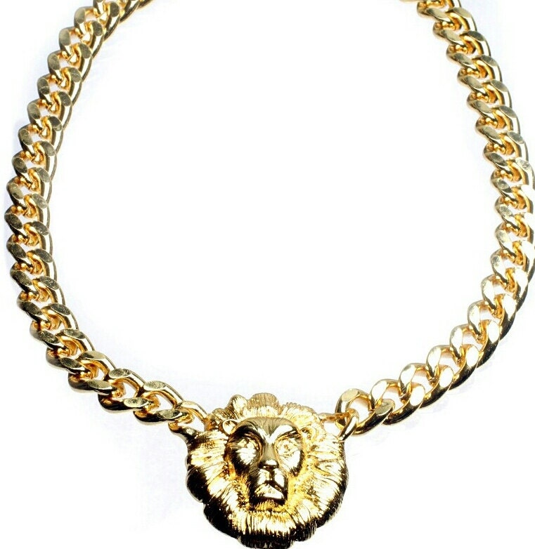 Versace Inspired Necklace Versace Inspired Lion Head
