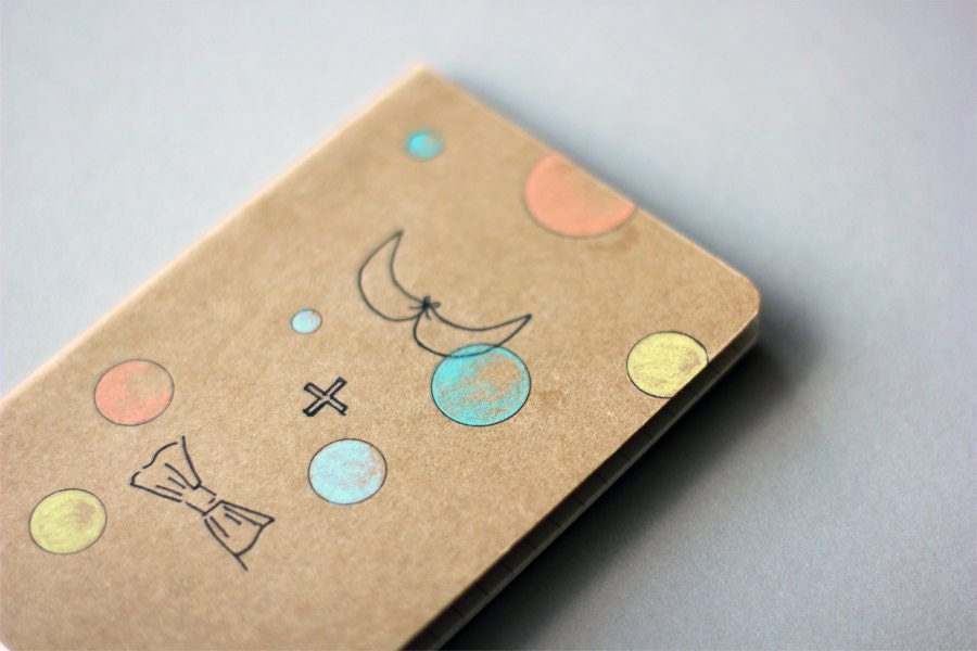Hand Drawn Pocket Journal Cahier Notebook (Moleskine) - me and you - Illustration - myhideaway