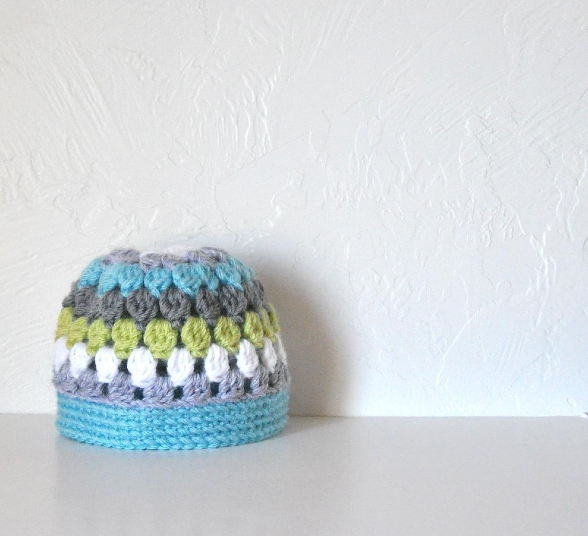 Newborn Baby Hat  - Liam - AllThingsGranny
