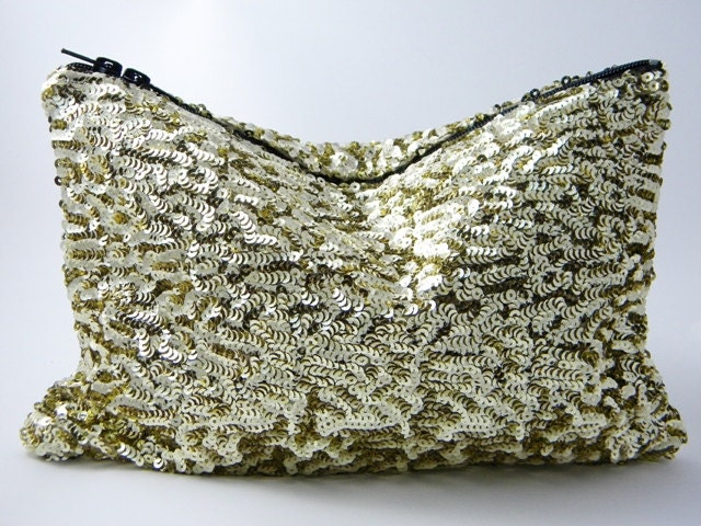 SALE - Glittering Gold Sequin Statement Clutch