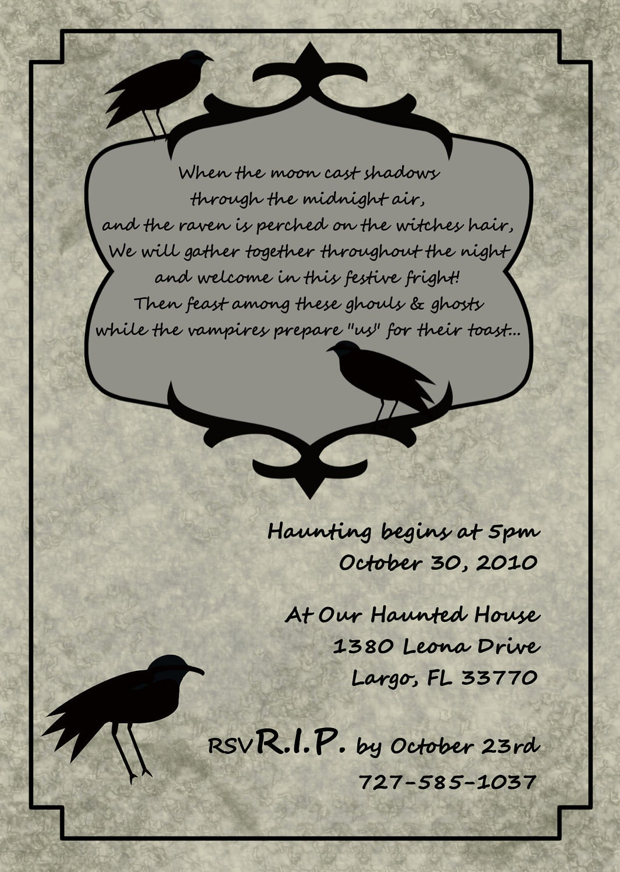 halloween invitations tickets