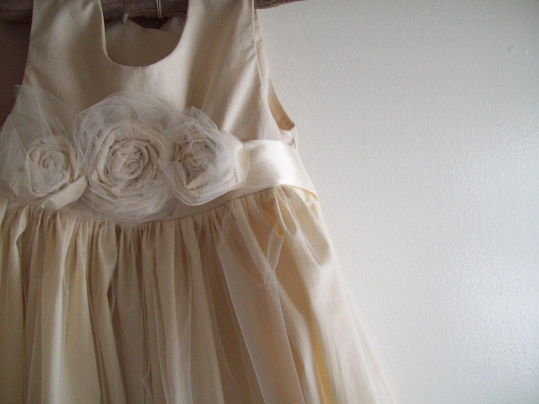 Flower Girl Dress Rustic Vintage Western Wedding