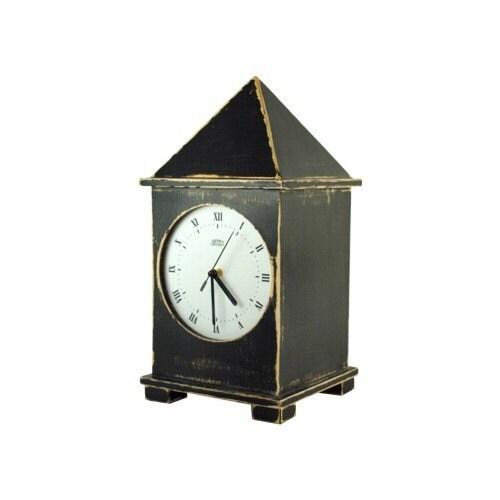 wooden clock black big one 15,5 inch - ArtmaStudio