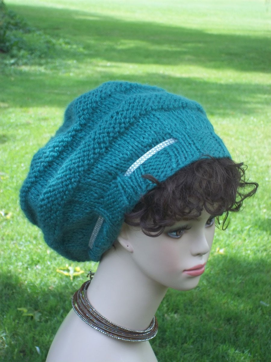 Pattern Knit Slouch Hat