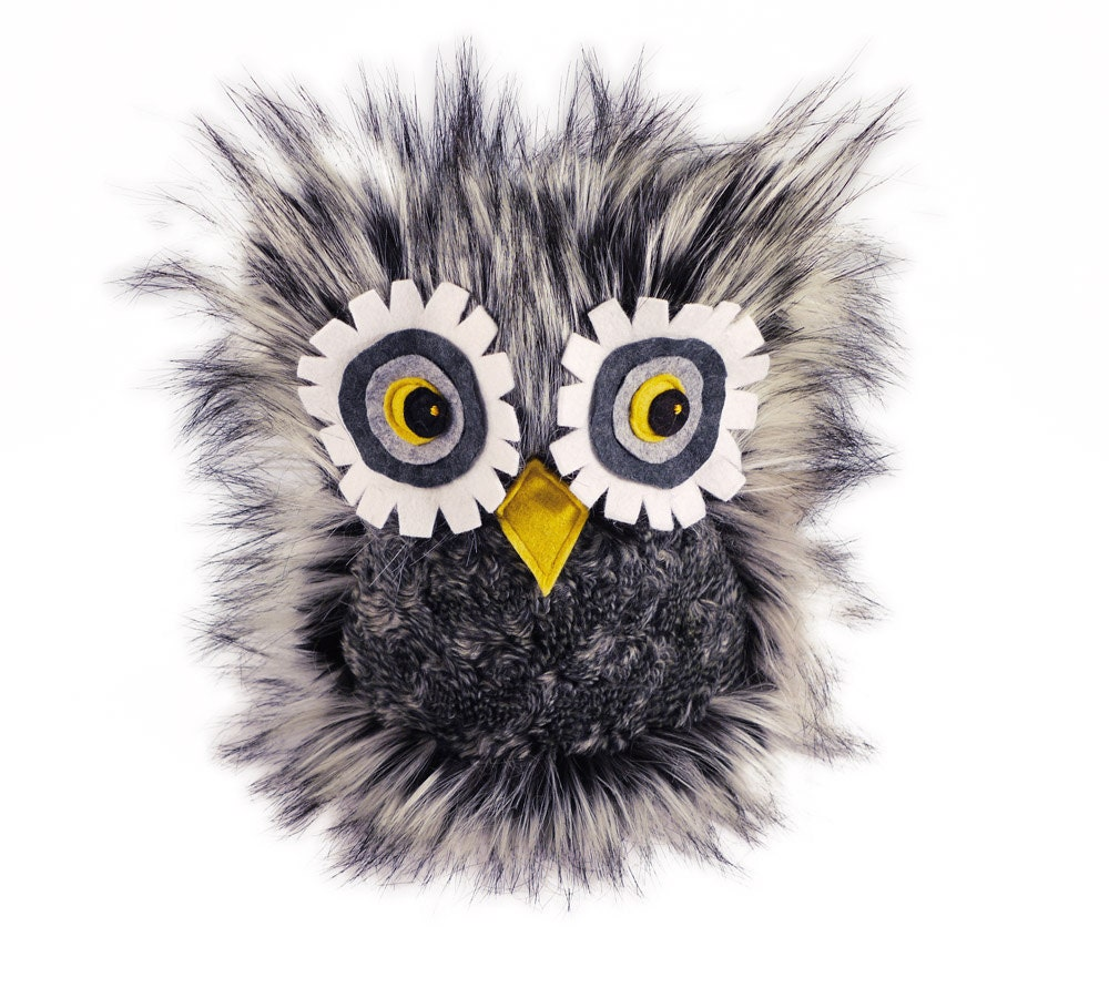 Hoot Owl Stuffed Toy Furry Plush Stuffed Animal - Fuzziggles