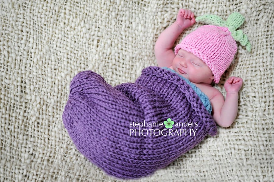Sweet Pea Baby Beanie-  photography PROP