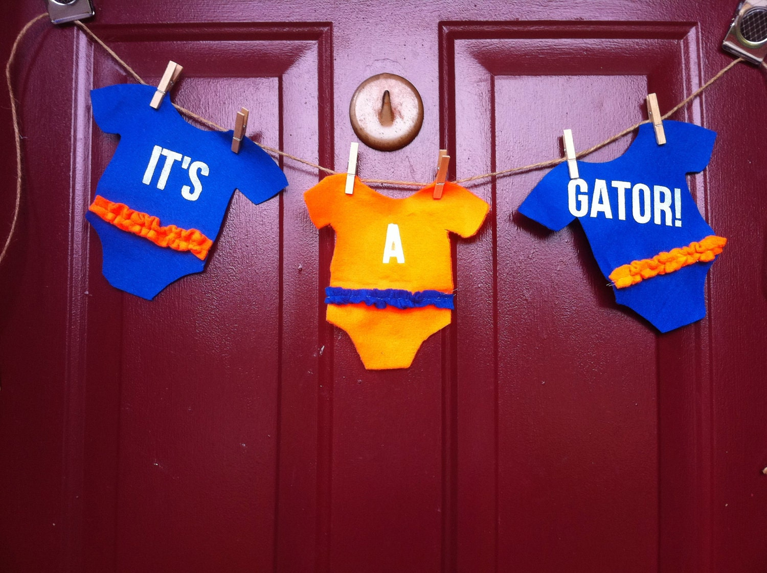 It's A Gator  Felt Pennant Banner New Baby