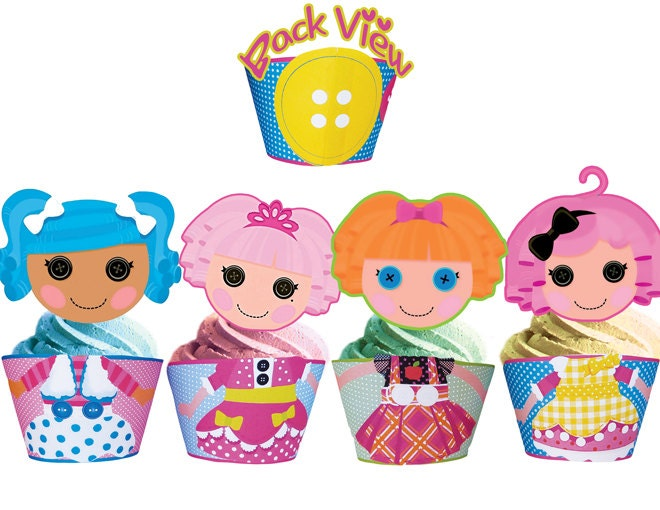 Lalaloopsy Birthday Cake on Instant Download Lalaloopsy Cupcake Toppers Wrappers   Printables