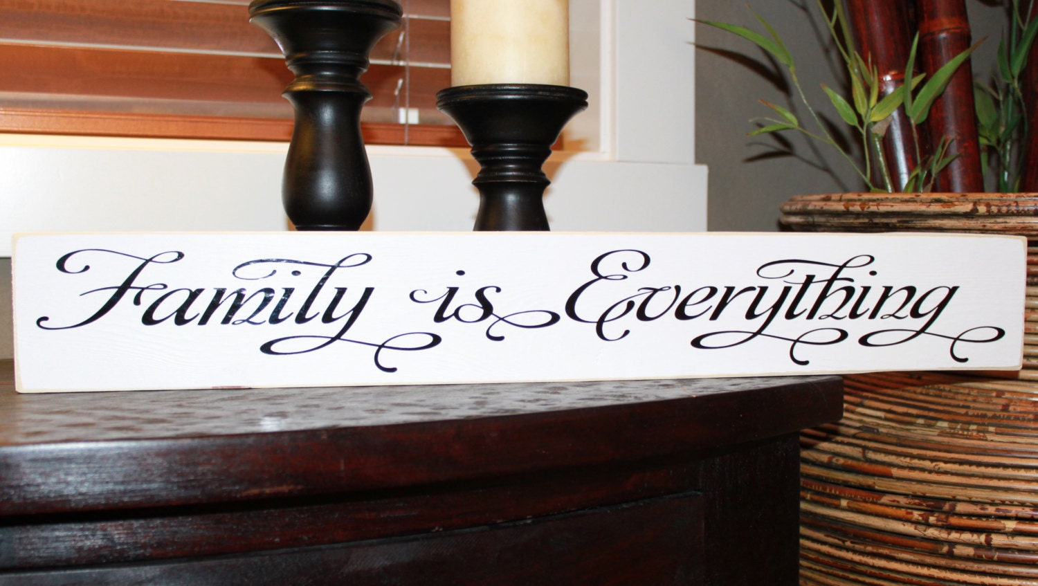 Family is Everything, Family, wood sign, Style HM32