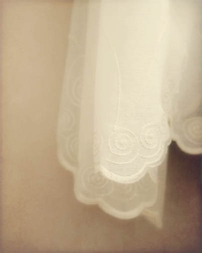 Dreamy Sepia Photograph cream vintage white curtains nursery decor sepia - FirstLightPhoto