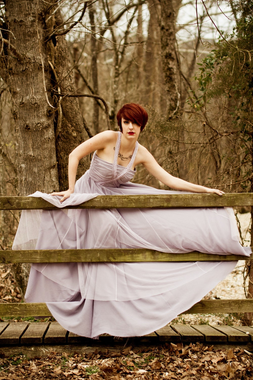 The Snow White Dress.... size small..... pale lilac. - deconstructika