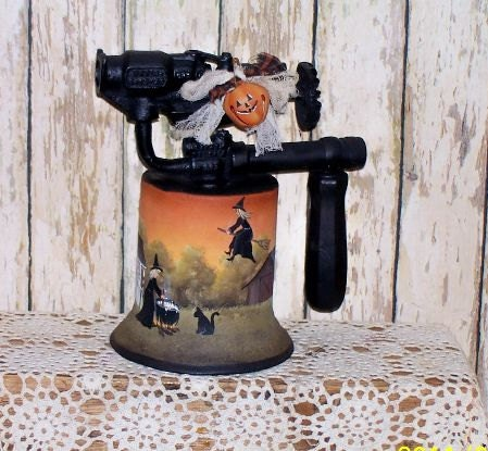 Halloween Ведьма котел Факел