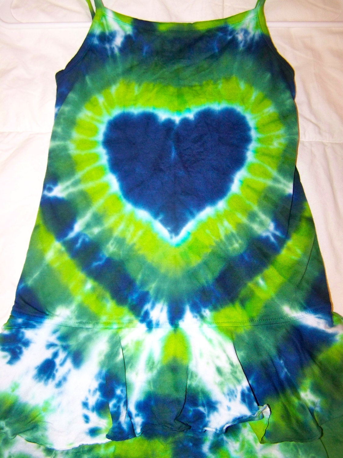 Ready to ship 2T tie dye heart sun dress
