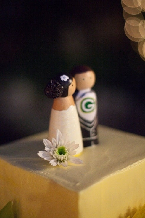 Custom Sports Wedding Cake Topper Bride Groom Themed Sport Team Baseball