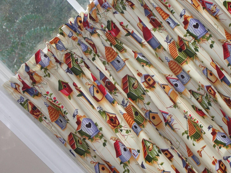 CHF Industries Birds Tiered Kitchen Curtain - One Pair - Curtains