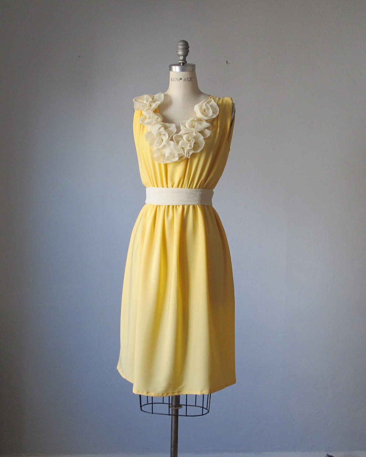 Dress / Bridesmaid / Romantic / Yellow / Dreamy / Bridesmaid / Party / Ruffles Flowers / Ready to ship