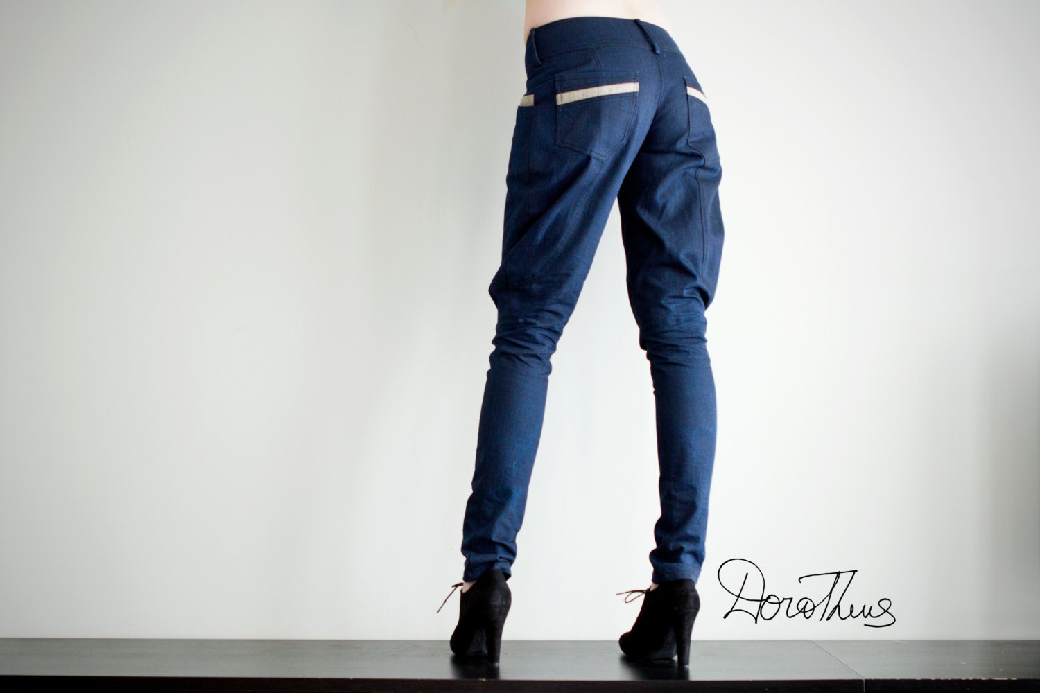 Denim galife skinny jeans / pants for women - DoroTheus