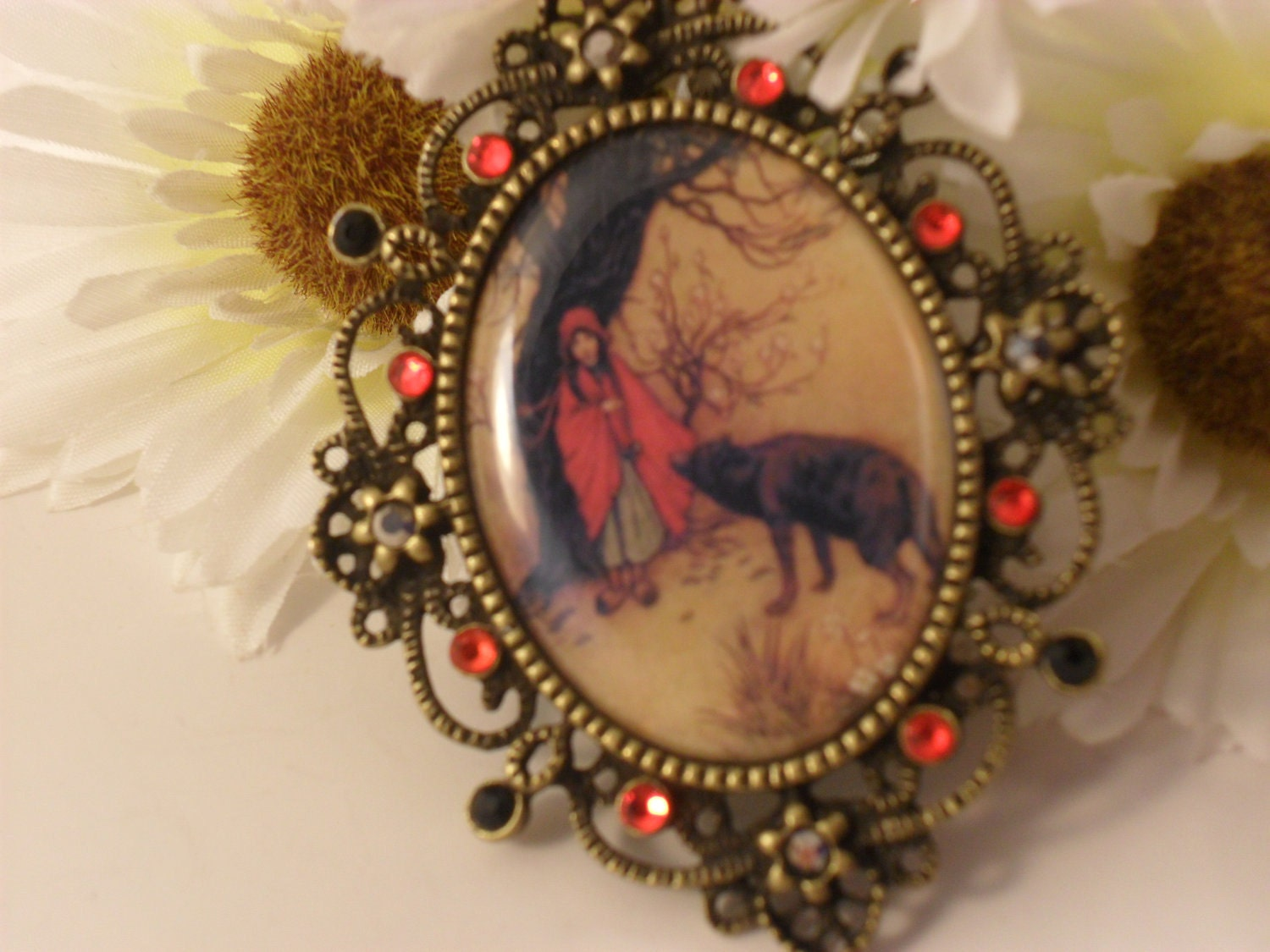 Little Red Riding Hood Cameo Necklace