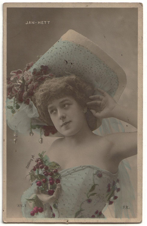 Мадемуазель - Vintage Открытка