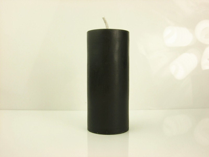 Pillar candle Handmade unscented black candle Parrafin wax candle for wedding, home decor and daily use - dermusensohn2000