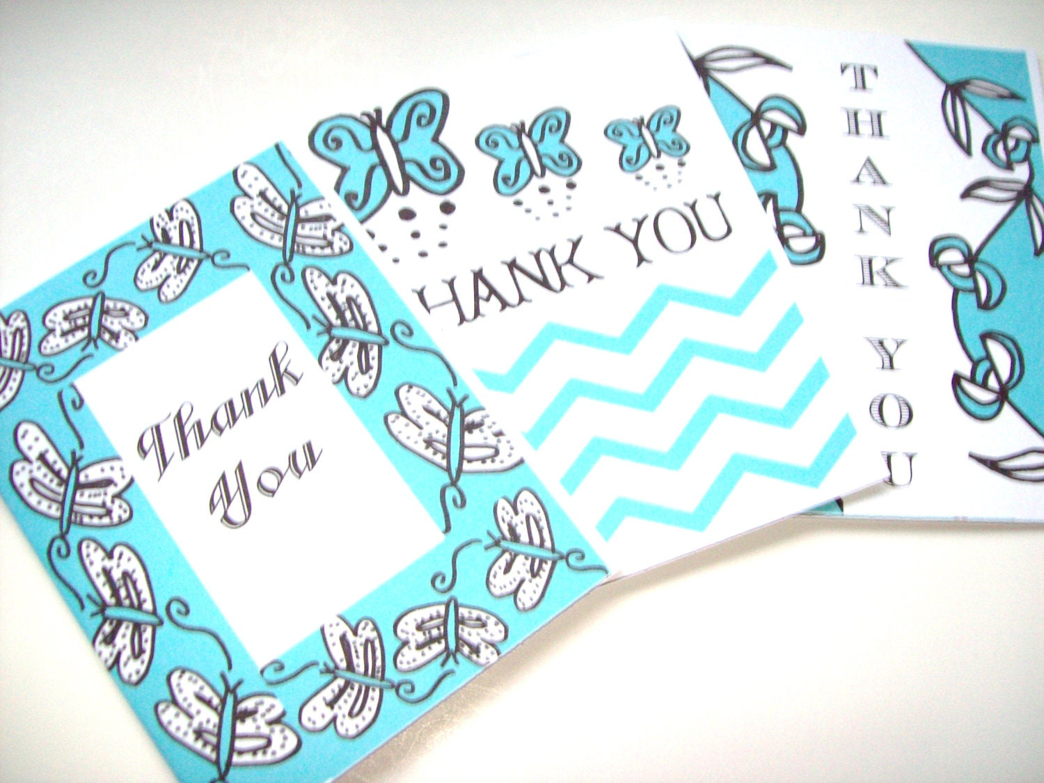 Thank You Note Card Set of 3