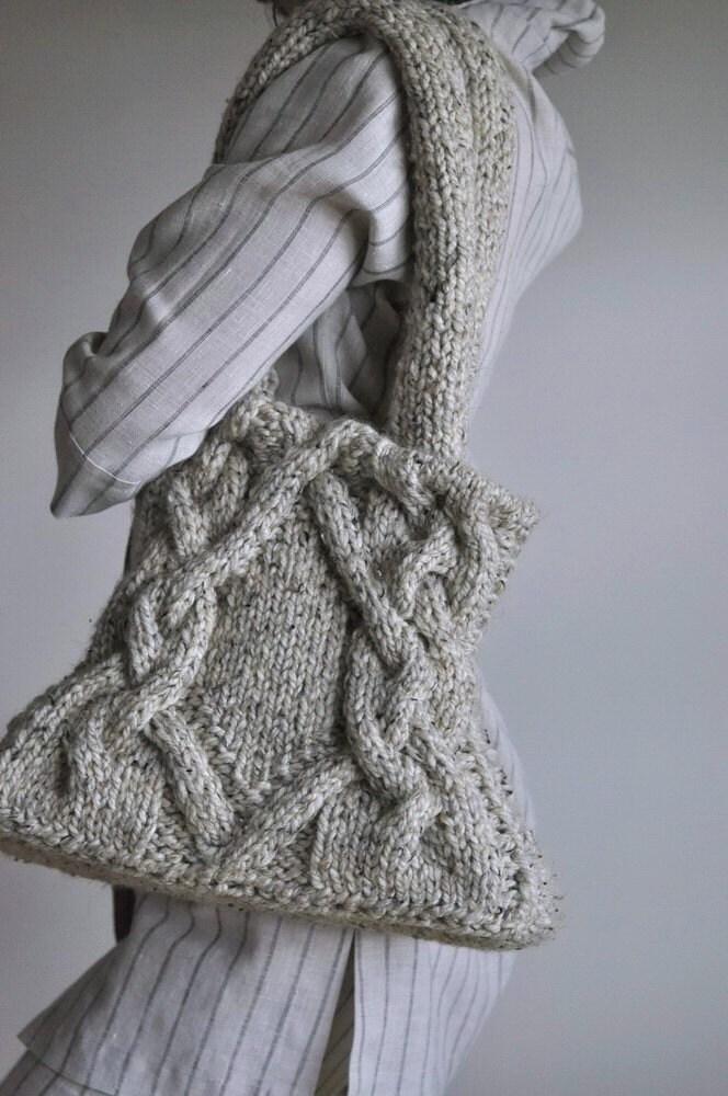 Кельтские путешествие - уникальна классический кабель handknit плеча сумку