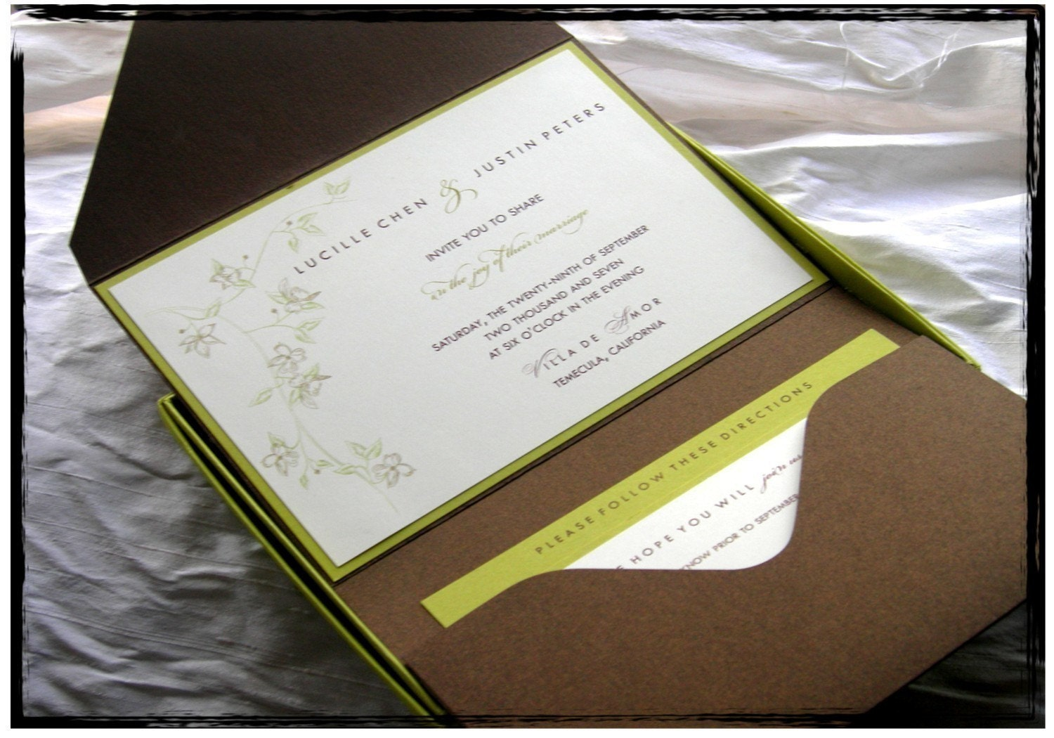 pouch wedding invitations.