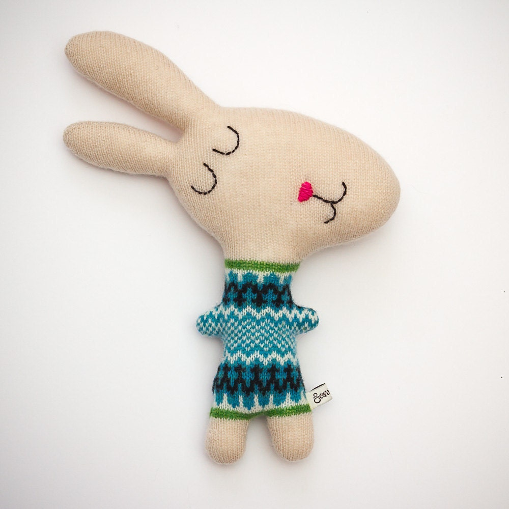 Hector the Rabbit Lambswool Plush - Made to order