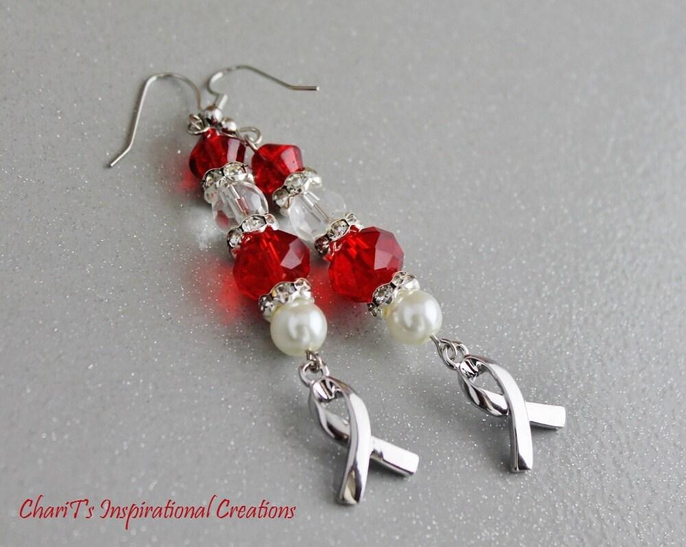 Red Heart Disease Awareness Earrings