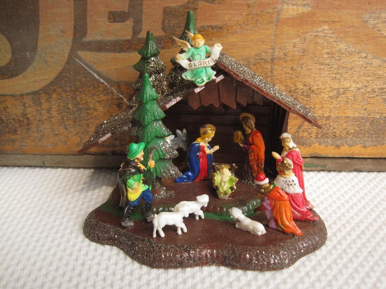 Vintage Nativity Creche Made in Hong Kong