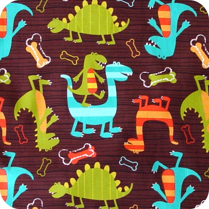 X-Large Wet bag 16 x 22 Swim / Diapers / Gym / Michael Miller Dino Dudes  Fabric /  SEALED SEAMS and Snap Strap