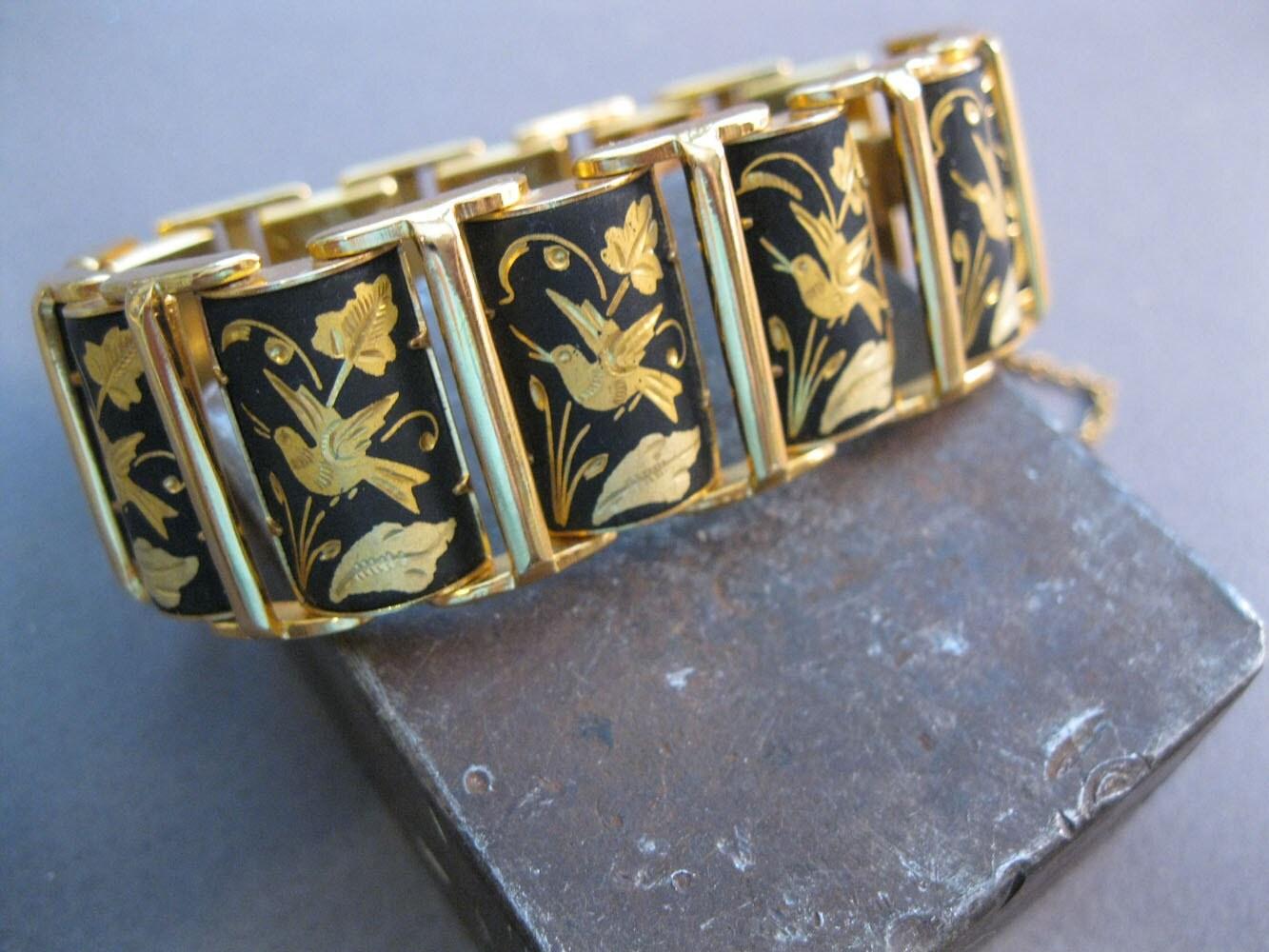 VINTAGE GOLD BRACELETS JEWELRY ON RUBY LANE