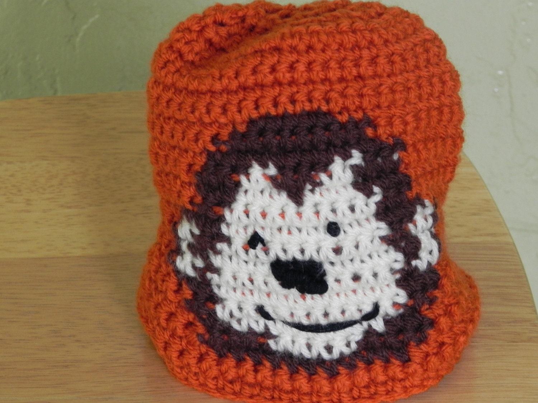 Orange Monkey Around Hats (lg)