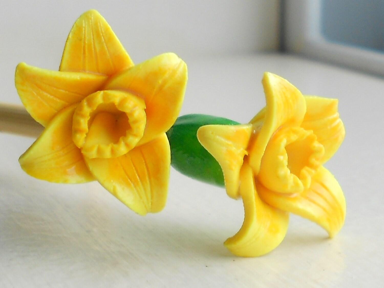 Daffodil Knitting Needles Handmade on premium bamboo-- Polymer-- Size 0 - 15 - DotDotSmile