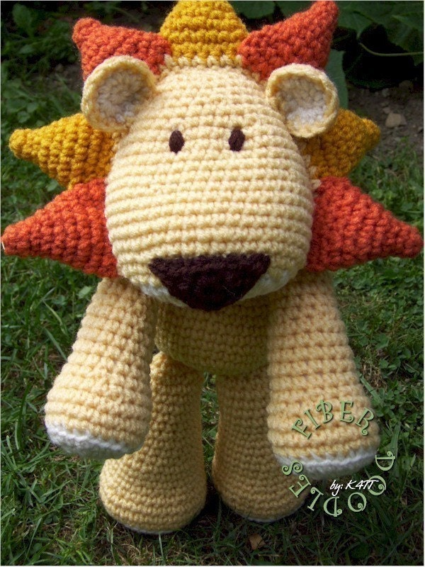 Amigurumi Lion Free : LION CROCHET PATTERN Easy Crochet Patterns