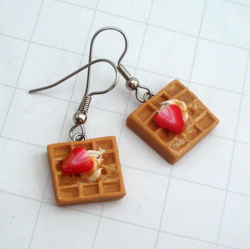 Strawberry Waffles Earrings