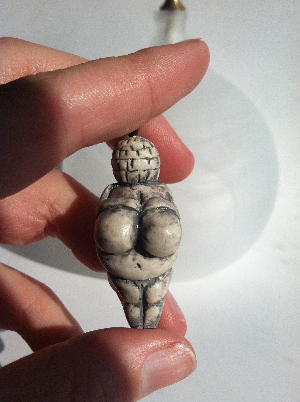 Handmade polymer clay Venus of Wilendorf inspired pendant