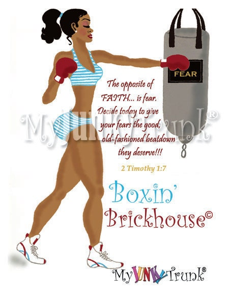 Boxin' Brickhouse- African American Art Print