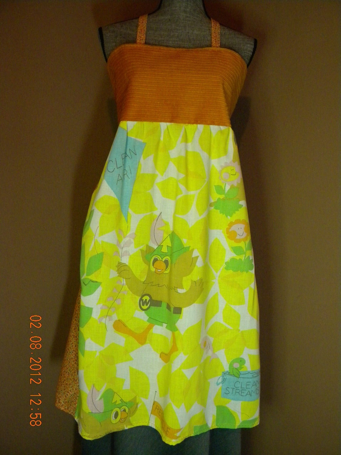 Vintage Woodsy the Owl Hippie Apron Shirt