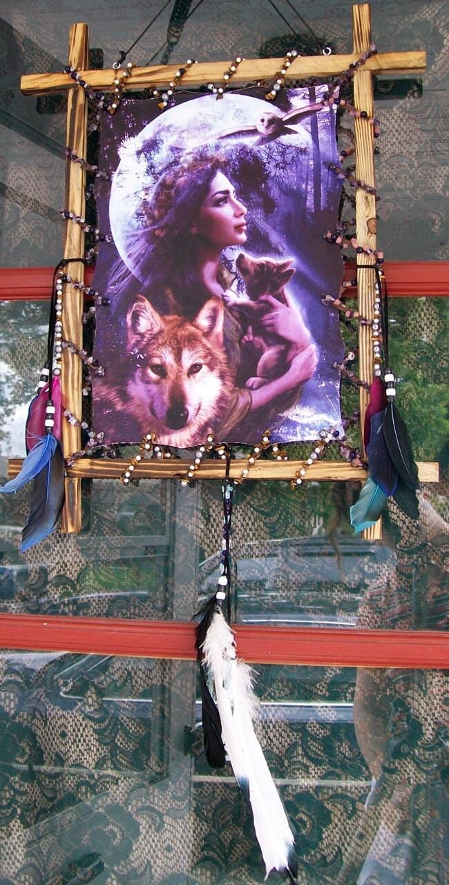 Wakanda Skwa Wolf Goddess Welcome Catcher