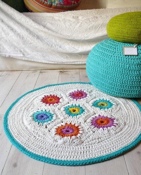 Crochet Tapete - hexágono