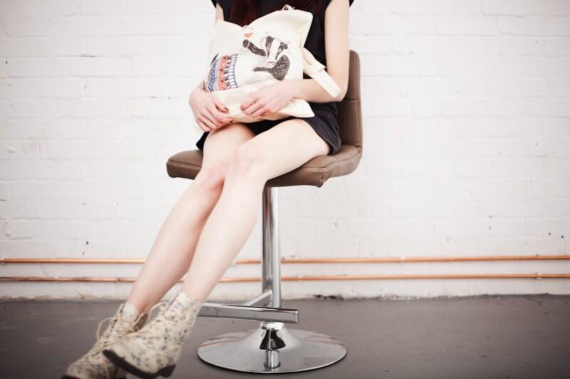 Tipsy Badger Printed Tote Bag - SophieParker
