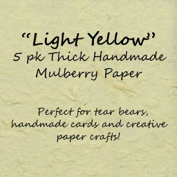 """8.5"""" x 11""""   Thick Handmade Mulberry Paper for Tear Bears, Scrapbooks, Cards, and Papercrafts - NightOwlPaperCrafts"""