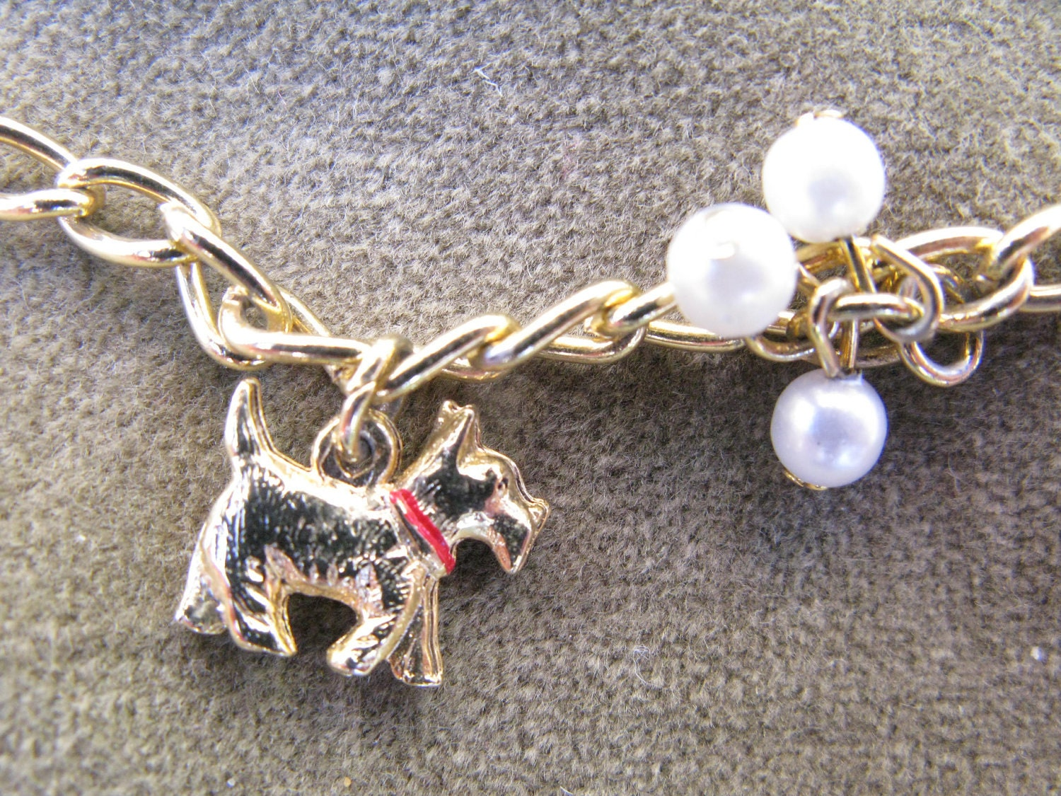 Vintage Scottie Dog Charm Bracelet