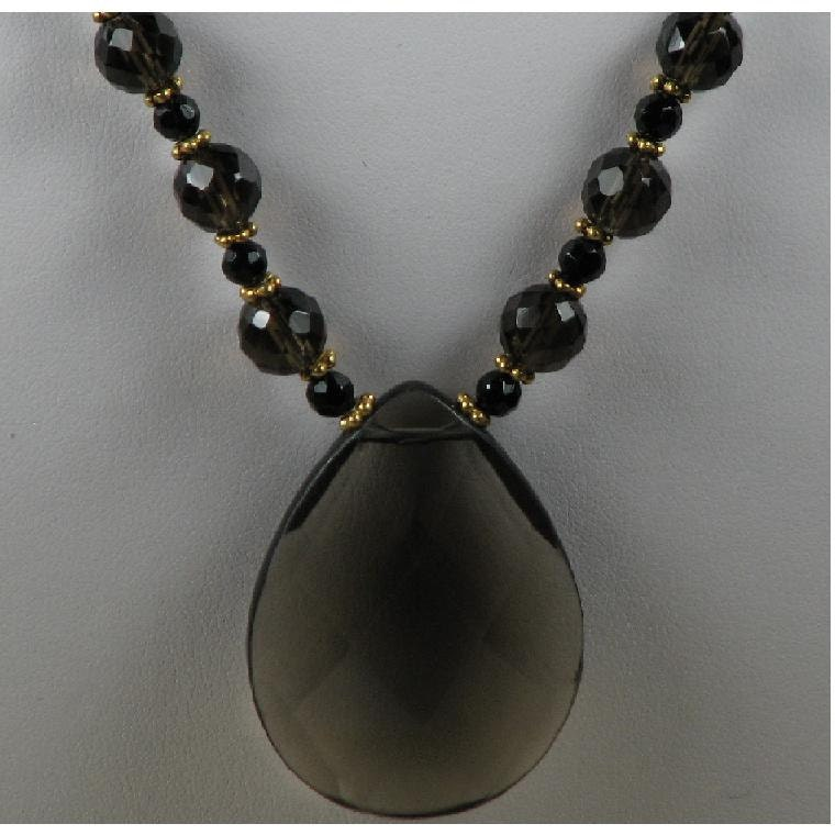 Gorgeous Smoky Quartz Necklace - FREE Shipping
