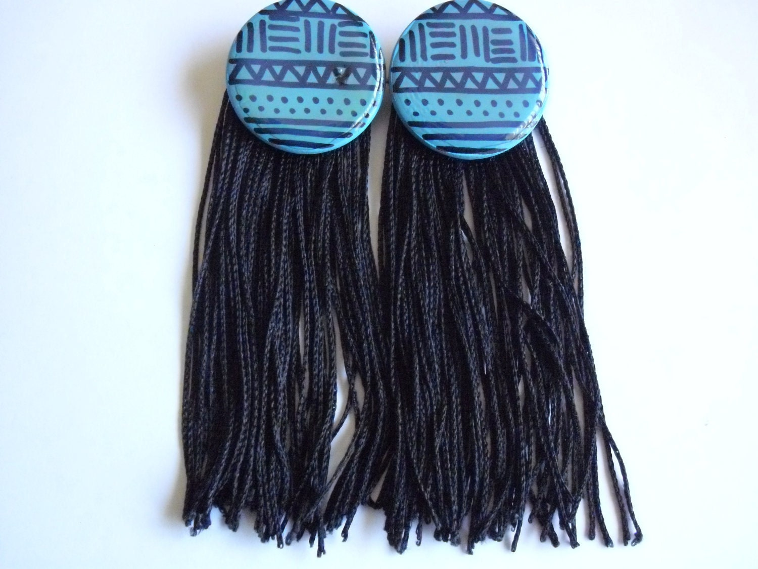 Tribal Print Finge Earrings